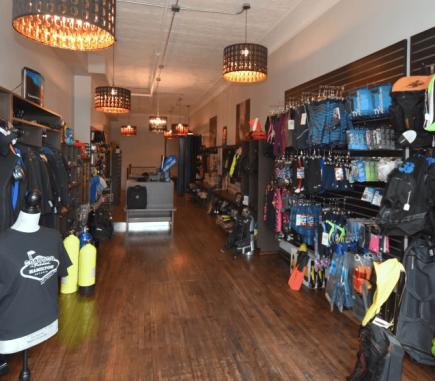 Scuba Shop Interior